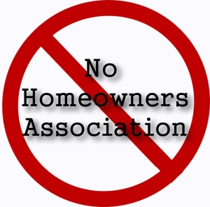 No Homeowners Association